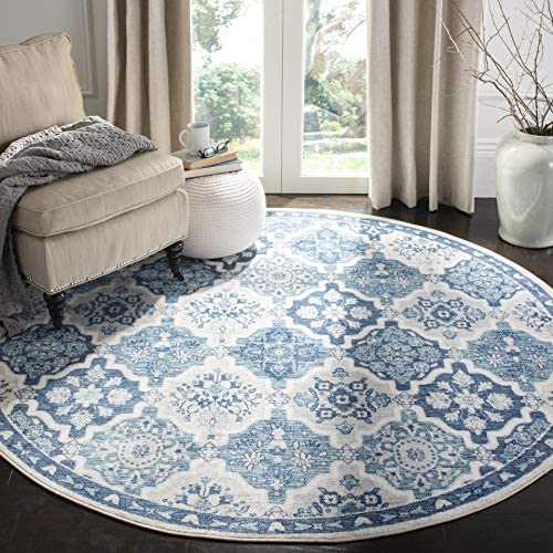 Safavieh Brentwood Collection BNT815M Area Rug, 9 x 12 , Navy Grey