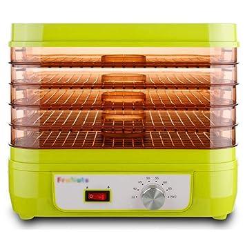 Secadora De Alimentos Secador de alimentos - Categoría alimenticia PP, 5 capas, 10L, Transparente, Control de temperatura independiente, Pequeña secadora ...