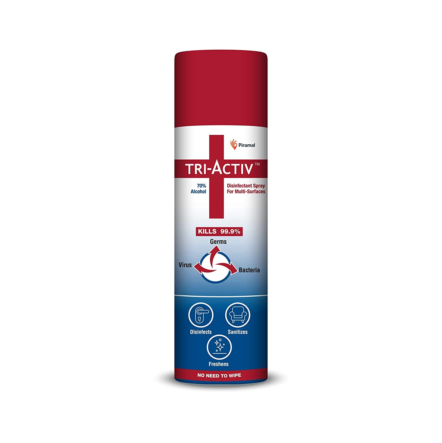 Tri-Activ 70% Alcohol Based Disinfectant Spray for Multi-Surfaces - 230 ml