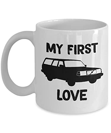 Volvo 240 My First Love Turbo - Ceramic Mug For Coffee And Tea, Made In