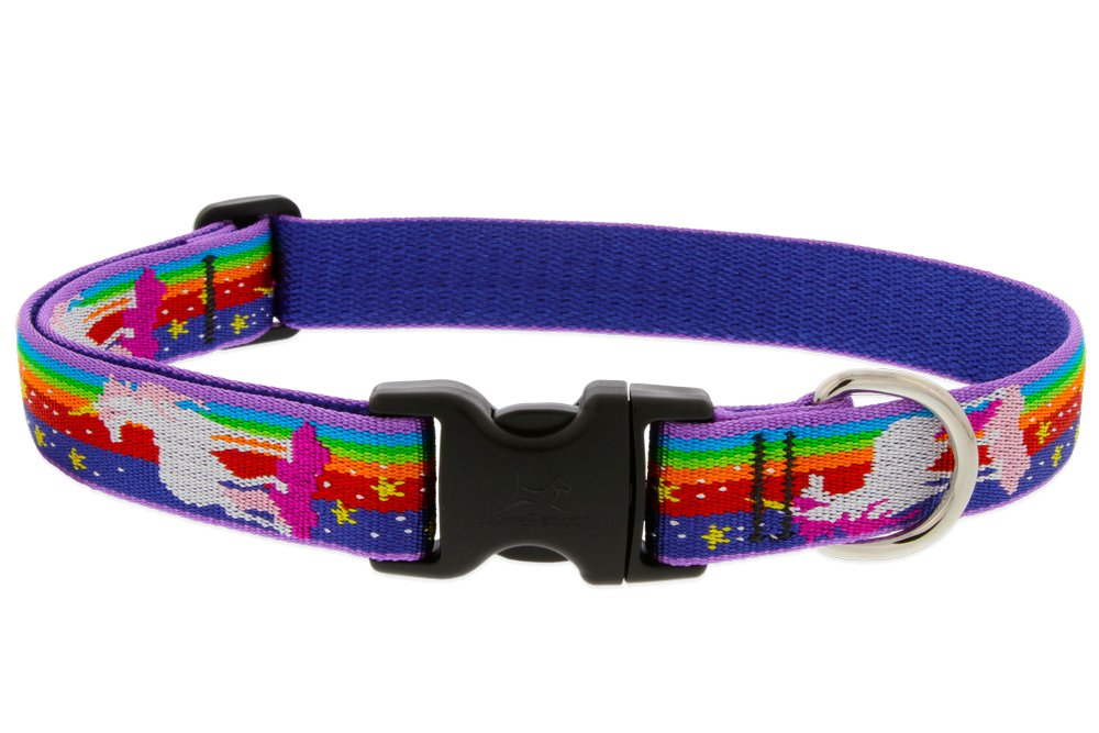 """well-wreapped LupinePet Originals 1"""" Magic Unicorn 16-28"""" Adjustable Collar for Large Dogs"""