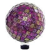 Alpine HGY302 Mosaic Gazing Globe, 11 Inch Tall, Violet