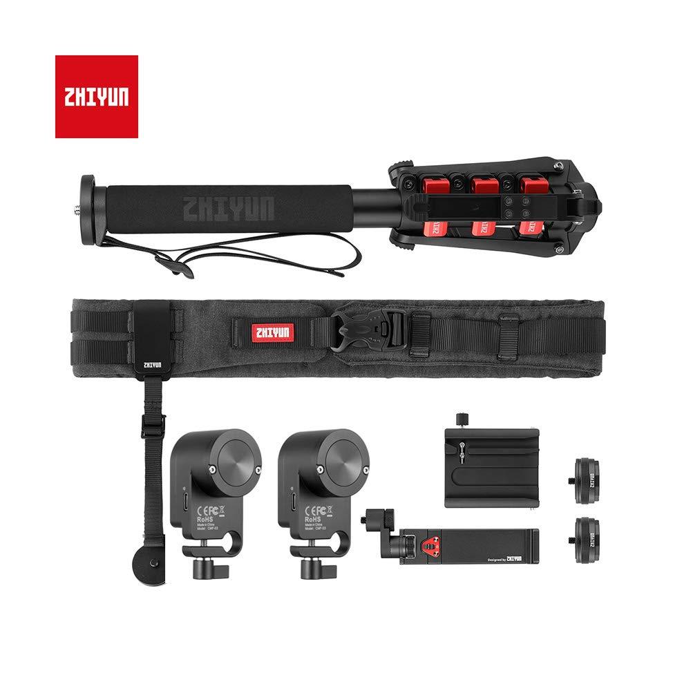 ZHIYUN Crane3 ラボアクセサリーキット クリエーター用 パッケージにはロックバックル付き伸縮一脚、フォーカスコントローラー、カメラベルト、クイックセットアップキット、電話ホルダー、クイックセットアップが含まれます。   B07NY8V1XV