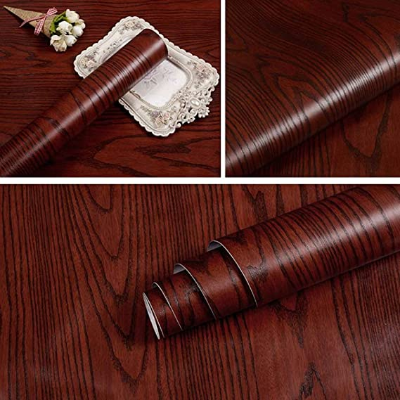 LZYMLG Papel tapiz autoadhesivo de grano de madera 3D ...
