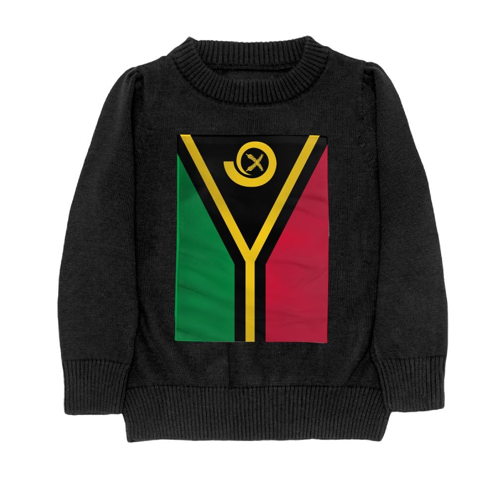 DTMN7 Flag Of Vanuatu Teens Sweater Long Sleeves Crew-Neck Youth Athletic Casual Tee Junior Boys