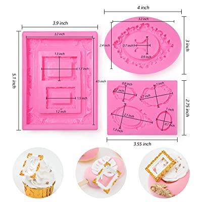 Embossed 5 bar Fondant Frame Silicone Mold Chocolate Polymer Resin Decoration