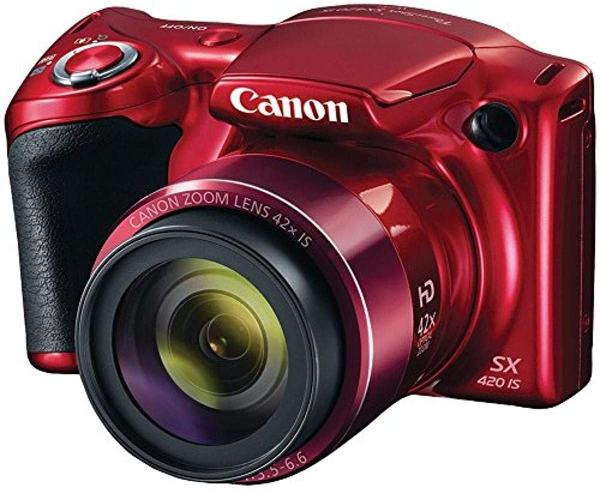 Canon PowerShot SX420 Digital Camera w/ 42x Optical Zoom - Wi-Fi & NFC Enabled (Red)