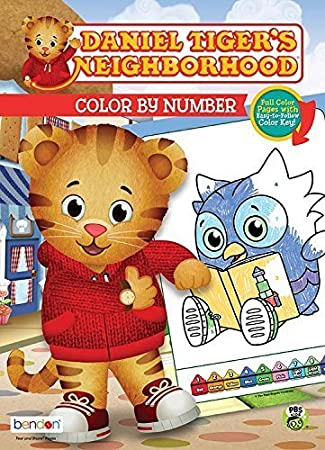 Amazon Com Daniel Tiger S Neighborhood Color By Number Coloring