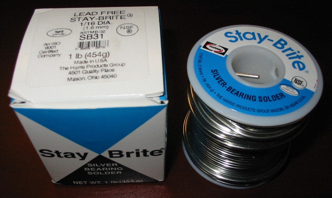 Harris Stay-Brite Silver Bearing Solder 1/16'' x 1 lb by Harris