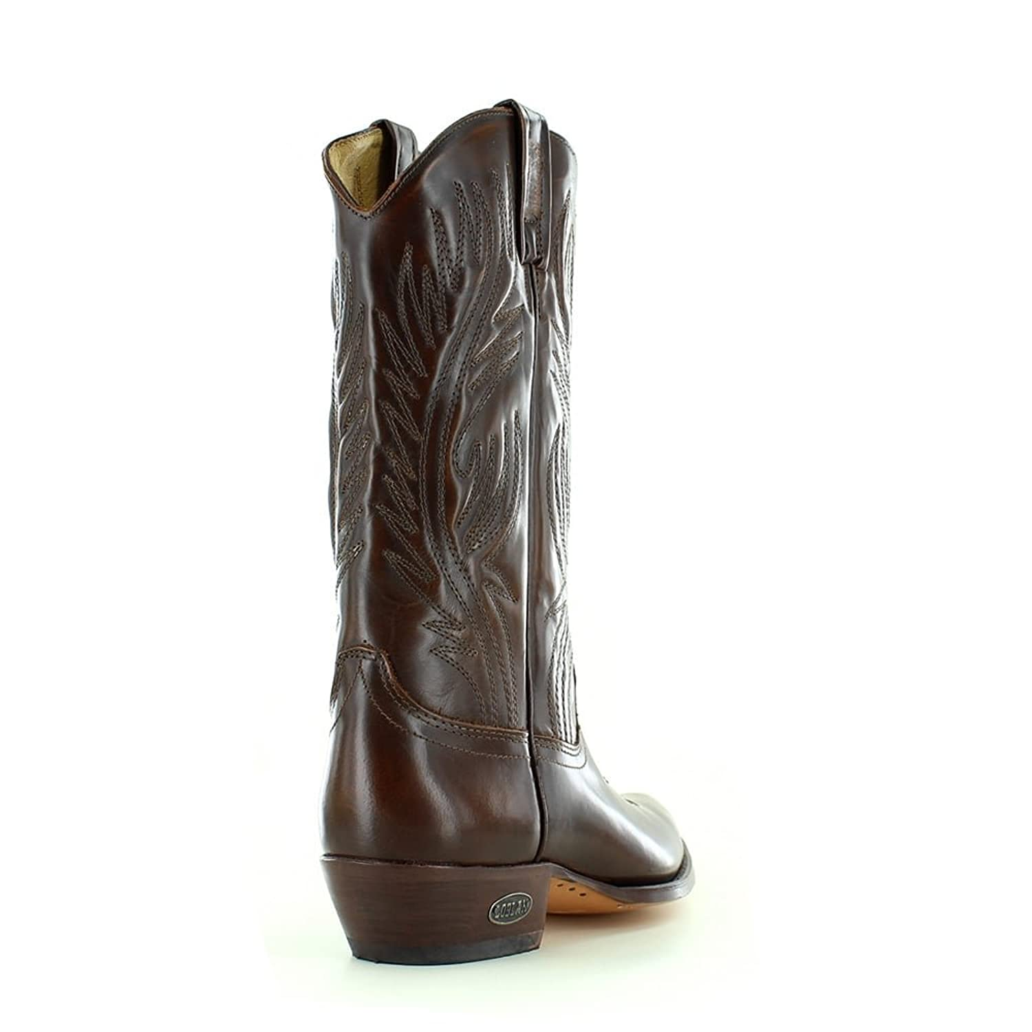 LOBLAN 194 Brown Whisky Leather Cowboy Boots Men's Western Pointed Boot  Hand Made 0194: Amazon.co.uk: Shoes & Bags