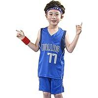 XYXYMM Jersey de Baloncesto, Dallas # 77 Dončić Jersey Infantil Ventilador de Verano Jersey Camisa Camisa Chaleco sin…
