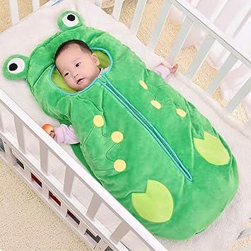 Queta Saco de Dormir bebé recién Nacido, con diseño de Dibujos Animados Verde Verde 105CM