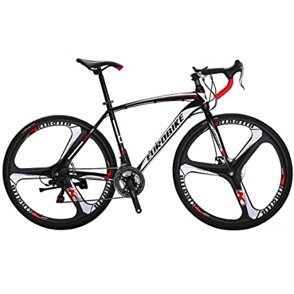 81678a202b5 Extrbici Road Bicycle Racing Bike Specialized Bike 3 Spoke Wheels 21 Speeds,XC550  700Cx28C 54CM Solid Integrated Wheel Curved Handlebar Double Disc Brakes ...