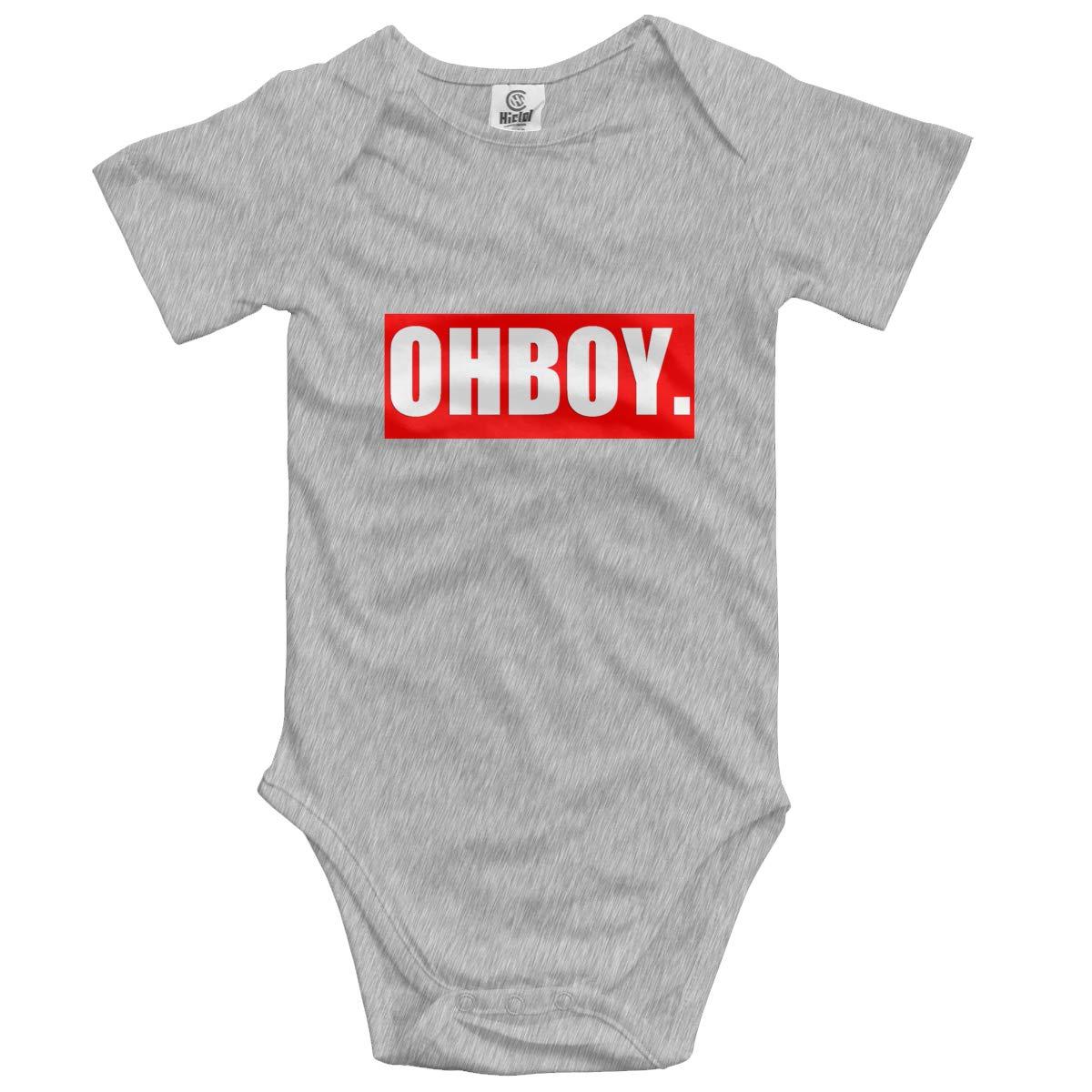 Nanagang OHBOY Babies Short Sleeves Babyclothes Lovely Gray