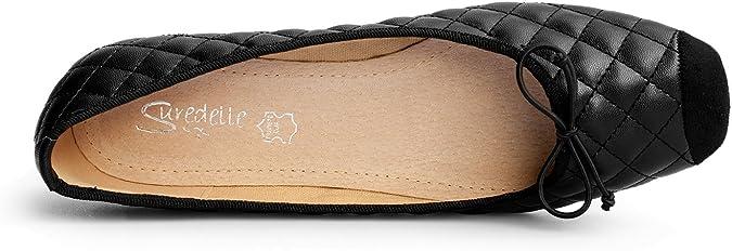 Chaussures Ballerines Grande Taille Avec Surpiq/ûres D-62-888 Rapidoshop