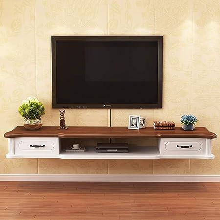 Estante Soporte de pared Consola para medios Soporte de TV flotante Estante para componentes Gabinete para TV Estante para rack Soportes para medios Consola de entretenimiento Consola de juegos para r: Amazon.es: