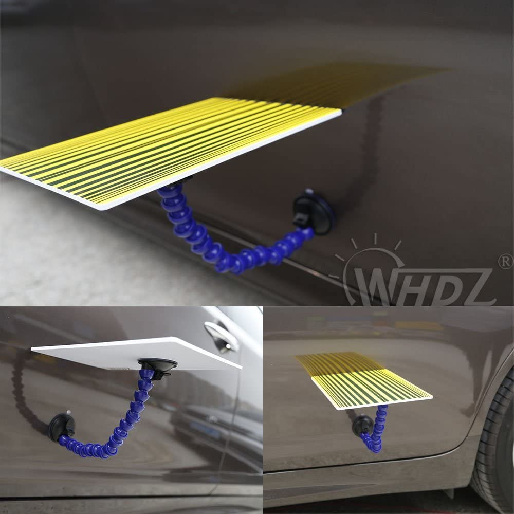 SFASTER Paintless Dent Repair Tools Line Board Reflector Board with Adjustable Holder Auto Body Dent Testing Tool Reflector Board Dent,not LED Board Yellow
