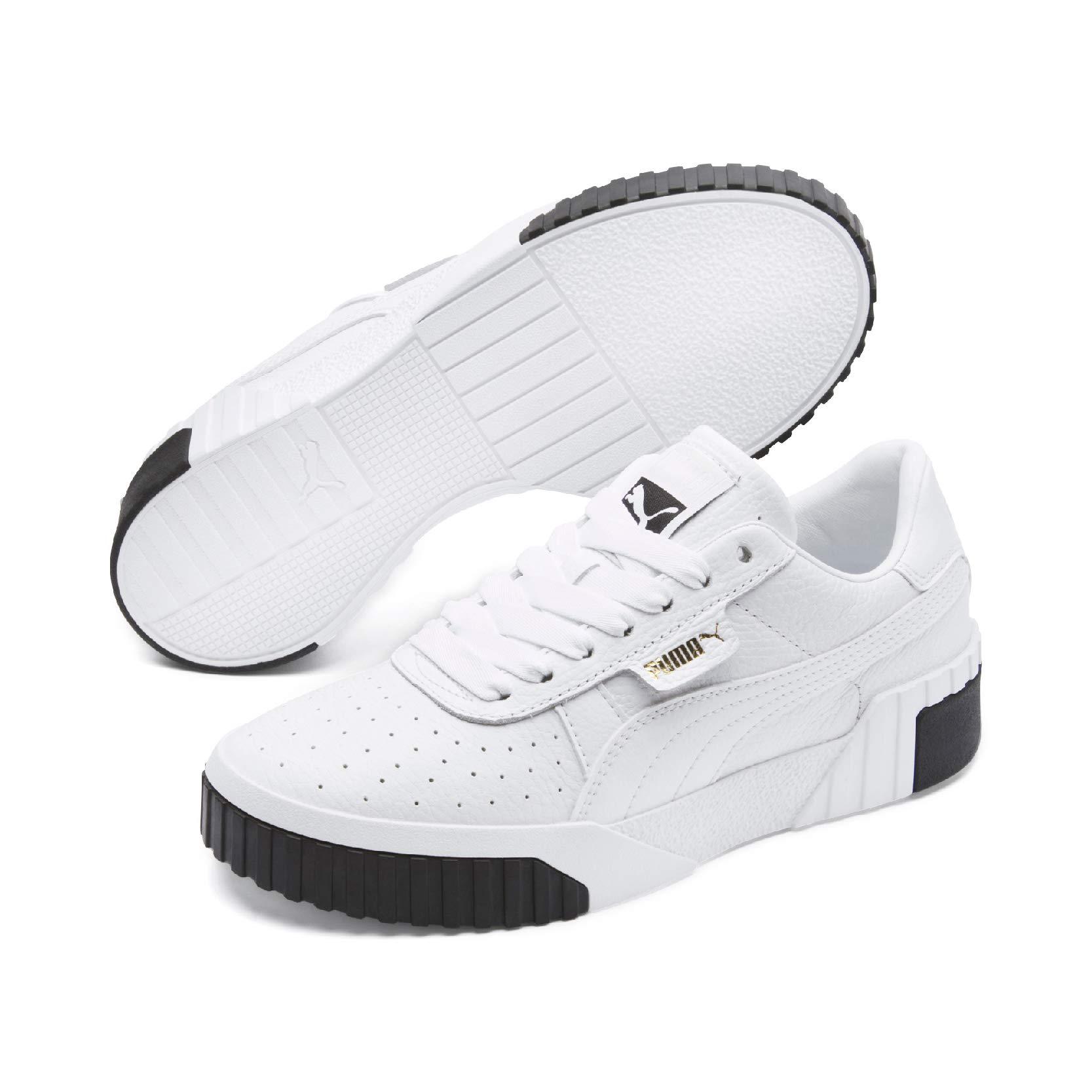 PUMA Women's Shoes White Black Cali Sneaker Fall Winter 2019