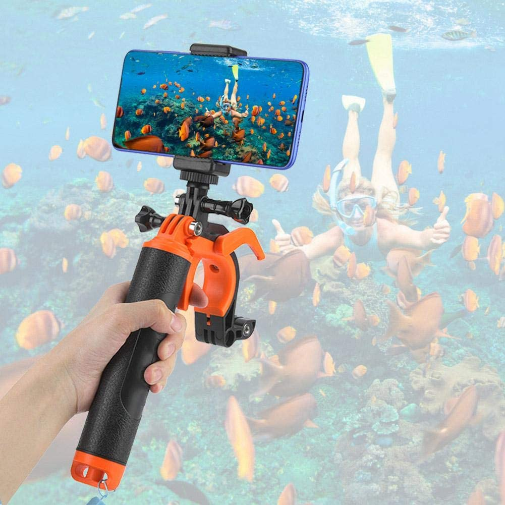 Pomya Floating Handle Hand Grip Underwater Diving Camera Grip with Shutter Trigger Accessories Kit for Gopro Hero 4 5 6 7 Action Camera