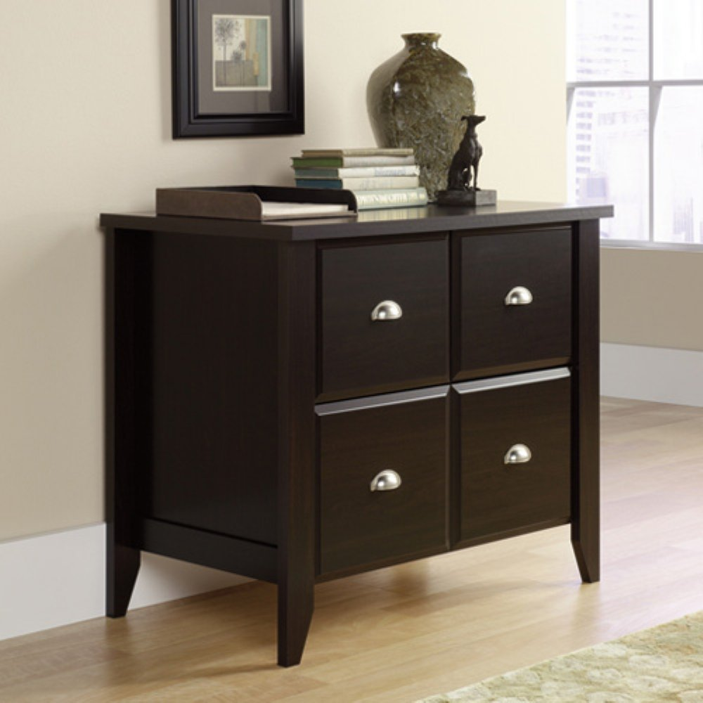 Sauder Kitchen Furniture Amazoncom Sauder Shoal Creek Lateral File Jamocha Wood Kitchen