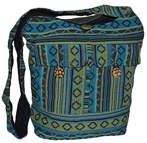 Damentaschen , Borsa Messenger  Uomo turchese turchese