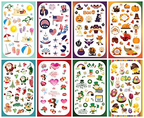 Koobar Year-Round Holiday Stickers Variety Pack: Fun Assortment of Designs for a Whole Year (400+ stickers)]()