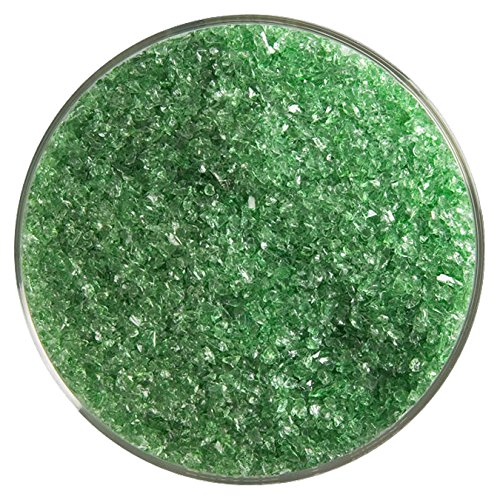Light Green Glass Eyes - Light Green Transparent Fusible Glass Medium Frit - 4oz - 90COE - Made from Bullseye Glass