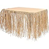 9' Natural Raffia Grass Table Skirt