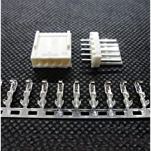 100PCS KF2510 5P 2.54MM 5 Pin IDC Cable Plug Wire Female Connector Header + Terminal + Male Socket