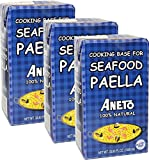 Paella Cooking Base for seafood paella. Imported from Spain. 33.38 oz Pack of 3