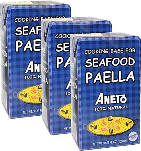 Paella Cooking Base for seafood paella. Imported from Spain. 33.38 oz Pack of - Base Seafood