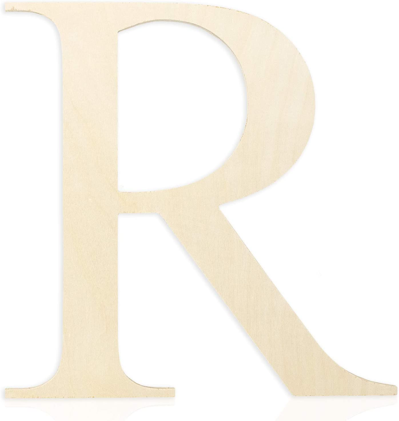 Wooden Letters 12 Inch (Letter R) Unfinished Wood Letters for Wall Décor, Crafts & Weddings. Wall Letter Signs for Home Decoration Painting with Full Alphabet Range Available - 0.5 Inch Thickness