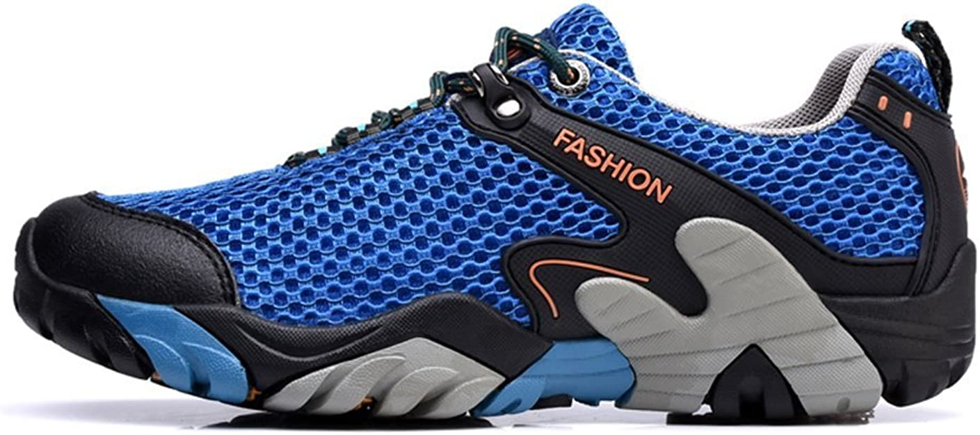 Zapatos de Senderismo Hombres Impermeable de Malla Ligera Acampar ...