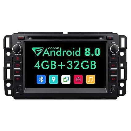 Double Din Car Stereo,7 Inch Eonon in Dash Android 8 0 Car Radio,4GB +32GB  Octa-Core Car Android Head Unit Applicable to Chevrolet GMC Silverado