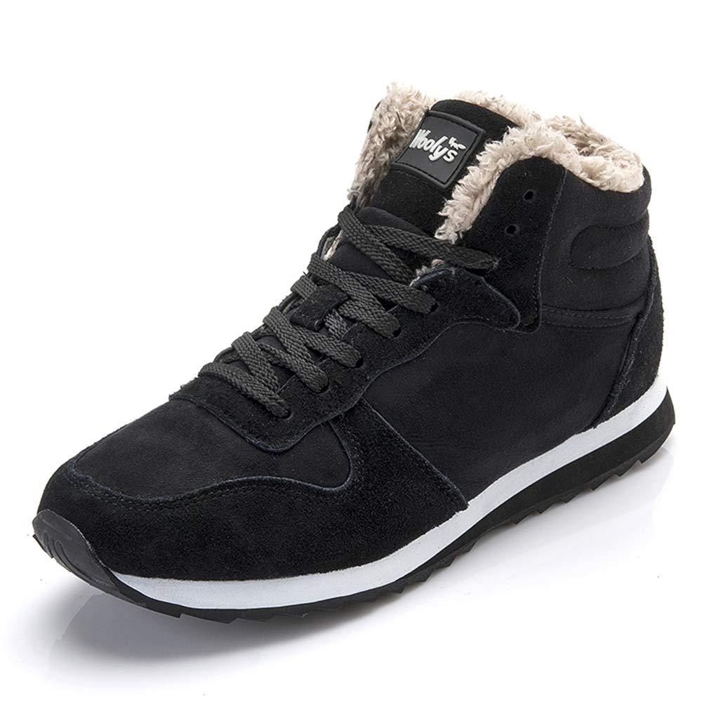 LIEBE721 Botas de Gamuza Unisex Zapatos de Invierno cálido Antideslizante Felpa Moda Casual Zapatos al Aire Libre