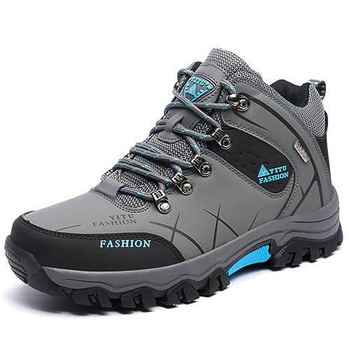 Laiwodun Botas de Senderismo Hombre, Zapatillas Deporte Outdoor, Zapato de Senderismo Deportes al Aire Libre Montañismo Botas Nieve: Amazon.es: Zapatos y ...
