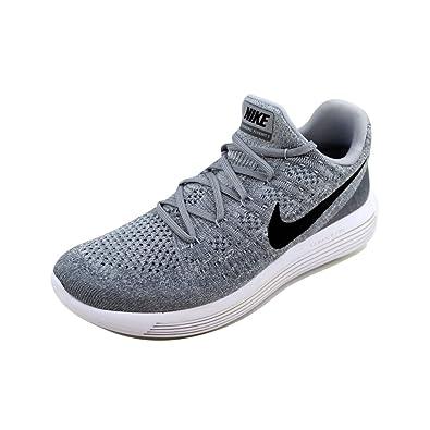 promo code ba0cf deca8 Nike Mens Lunarepic Low Flyknit 2 Wolf Grey Black Cool Grey Running Shoe 8  Men US  Buy Online at Low Prices in India - Amazon.in