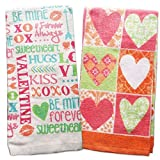 #8: Valentines Day Kitchen Towels Harts Kisses Hugs LOVE Sweetheart XOXO