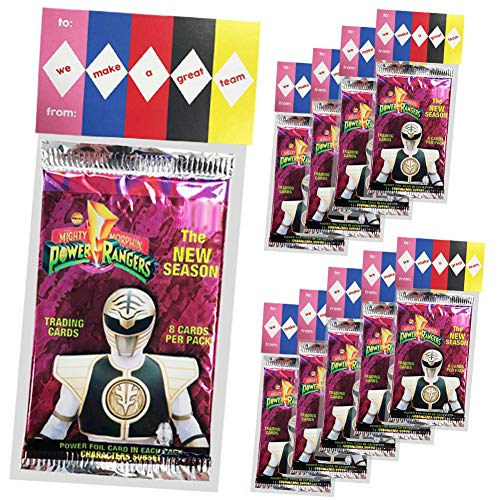 Power Rangers Invitations (Power Rangers Party Favors, We Make A Great Team 10 Pack, New Power Rangers Party Supplies or Valentines Day Cards for Kids School Classroom Exchange, Creative HASSLE FREE Pre Assembled)