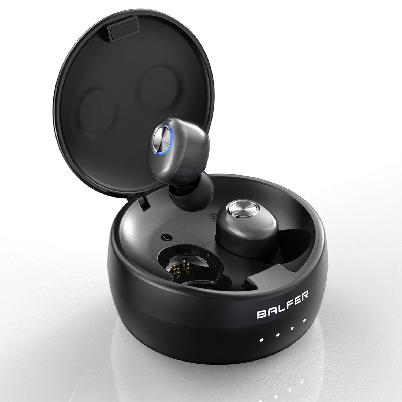 Wireless-Earbuds, BALFER True Wireless-Bluetooth-Earbuds TWS Headphones in-Ear Stereo Bluetooth V5.0 Earphone Built-in High Definition Mic Rechargable