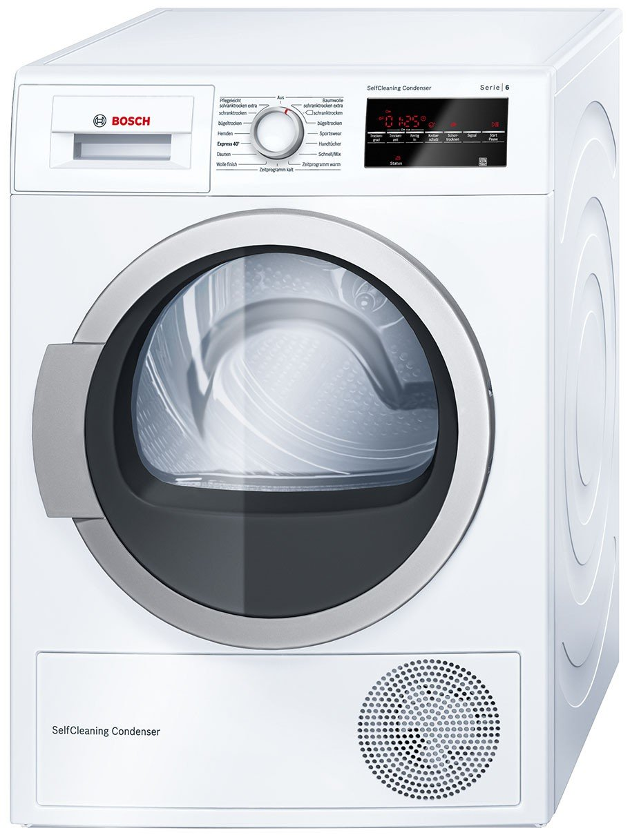 Bosch WTW854H0 Trockner/Ablufttrockner, 60 cm Höhe Modern [Energieklasse A+] 60 cm Höhe Modern Bosch Groß