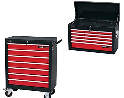 Draper 16 cajones y bandeja superior caja y rodillo armario baúl para herramientas Combo Deal 9