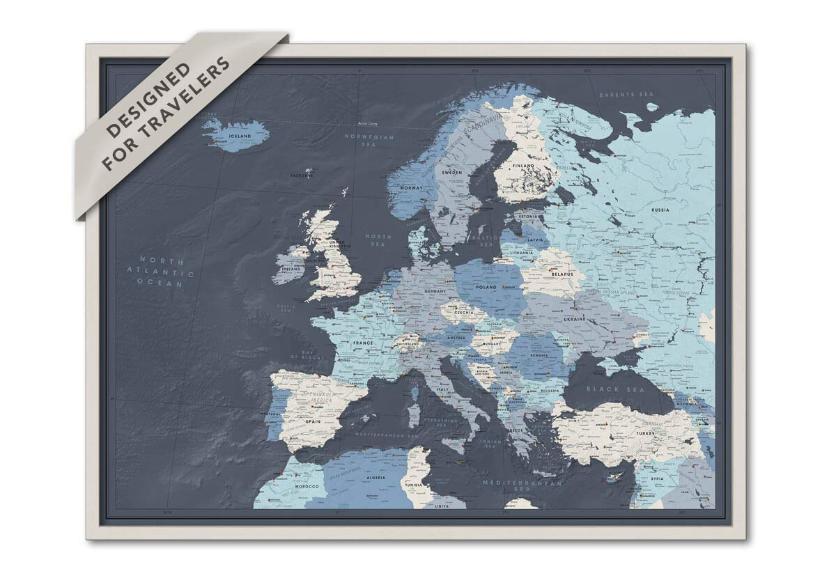 map your trip to europe Amazon.com: Framed Map of Europe with Push Pins | Personalized