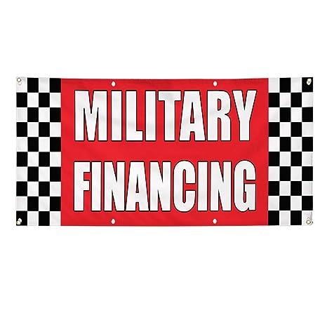 Amazon Com Vinyl Banner Sign Military Financing Auto Body