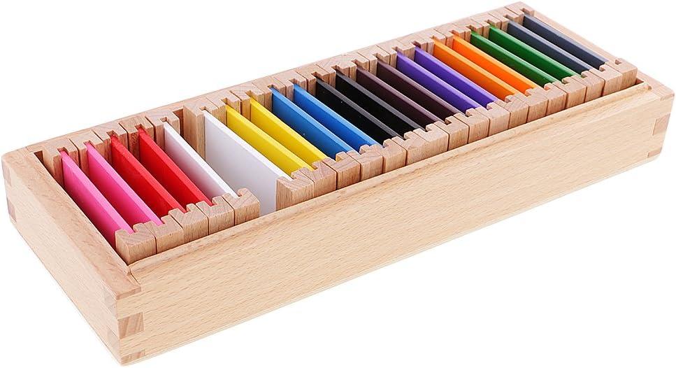 Sharplace Montessori Caja Sensorial de Madera Ejercicios de Colores Regalo de Cumpleaños Navidad para Bebé Niño - Medio