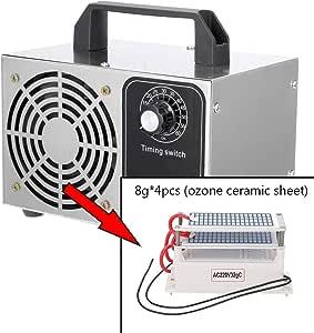 yorten Generador de Ozono, 10g/h Portátil Ozonizador Purificador ...
