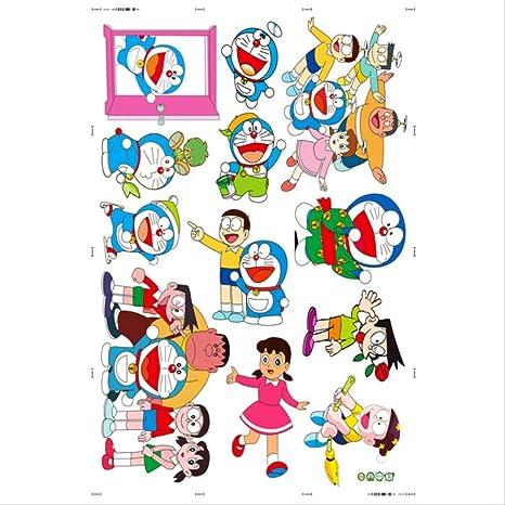 Doraemon Vinilo infantil Papel pintado autoadhesivo de dibujos animados Jardín de infantes, sala de niños, dormitorio pegatinas impermeables removibles Mural decorativo 45 * 60 1: Amazon.es: Bebé