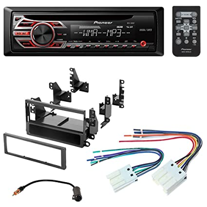 amazon com pioneer aftermarket car radio stereo cd player dash pioneer car radio pioneer aftermarket car radio stereo cd player dash install mounting kit stereo wire harness for