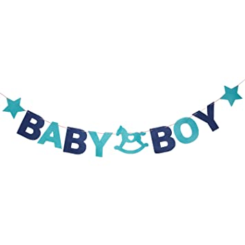 amazon co jp baby boyバナー ベビーboy bunting ブルー少年バナー