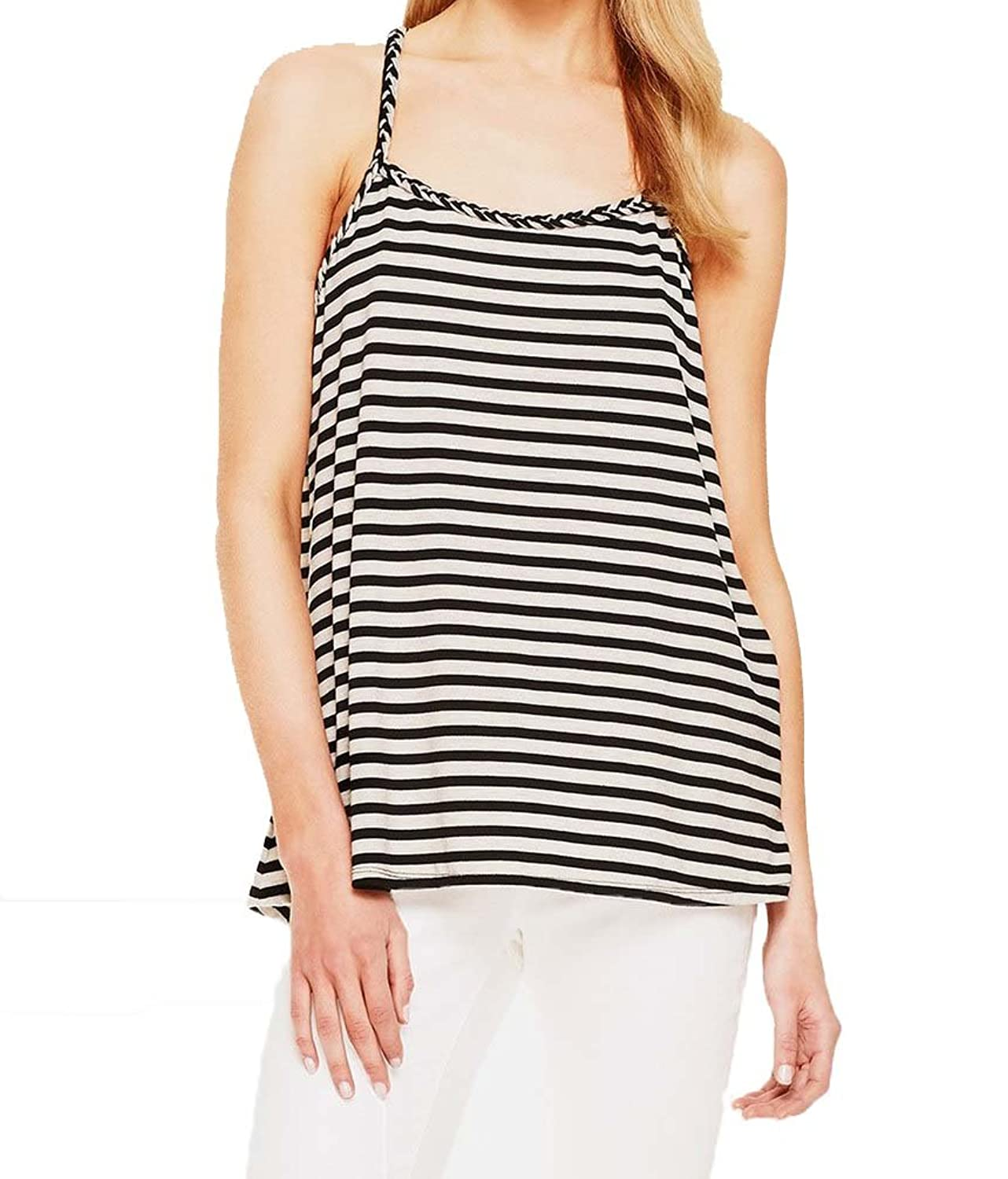 Two by Vince Camuto 'Rainforest Stripe' Racerback Tank Tribal Beat Black XS